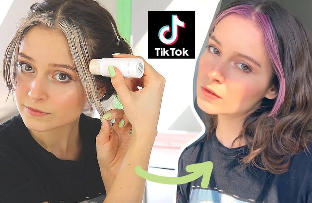 Color Your Hair With Concealer © tiktok.com