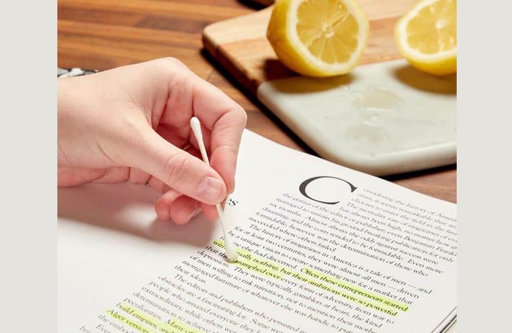 Lemon to Remove Highlighter Hack @family_handyman / Pinterest.com